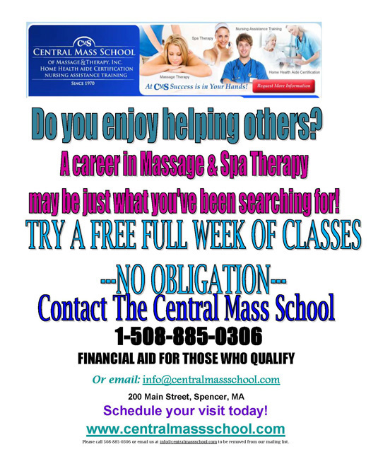 Central Mass School Of Massage And Therapy